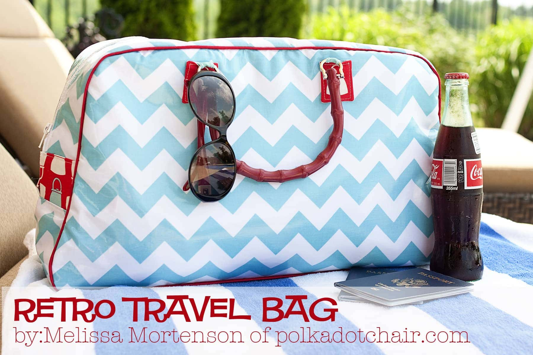 Retro Travel Bag A Tutorial The Polkadot Chair Pounch Tas 6 In 1