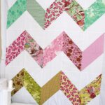 A finished Zig Zag quilt top