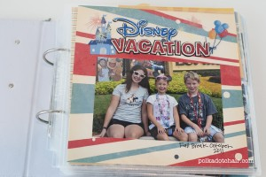 Simple DIY Disney Vacation Photo Album