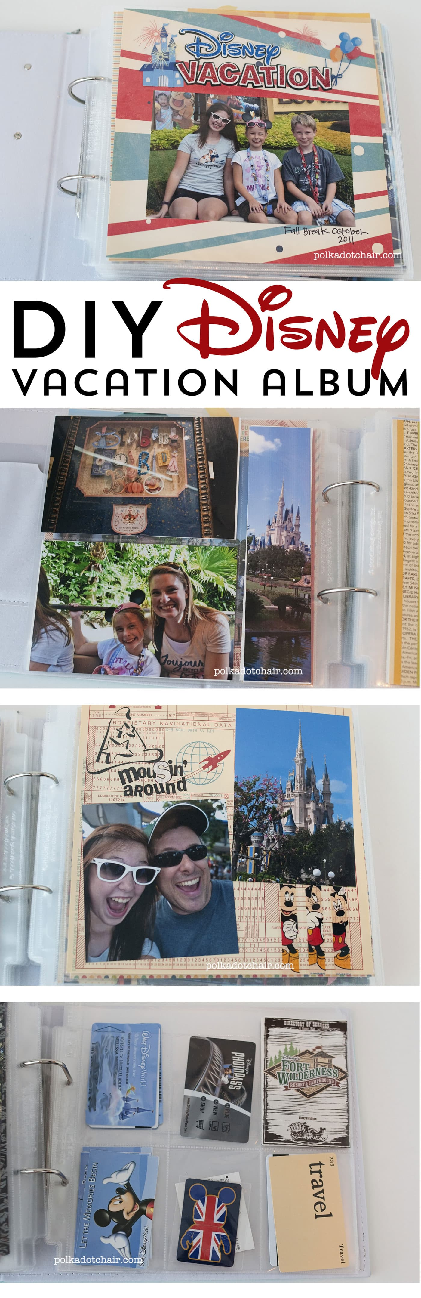 Cute and Simple DIY Disney Vacation album ideas to try.
