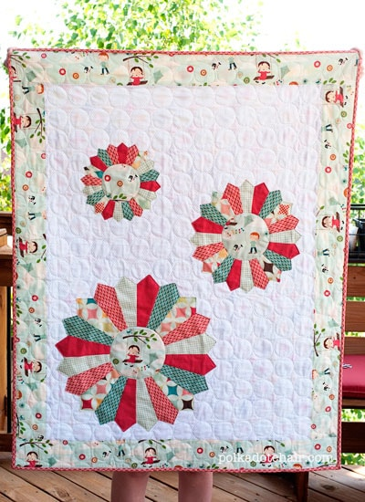 Tutorial Dresden Baby Quilt The Polkadot Chair