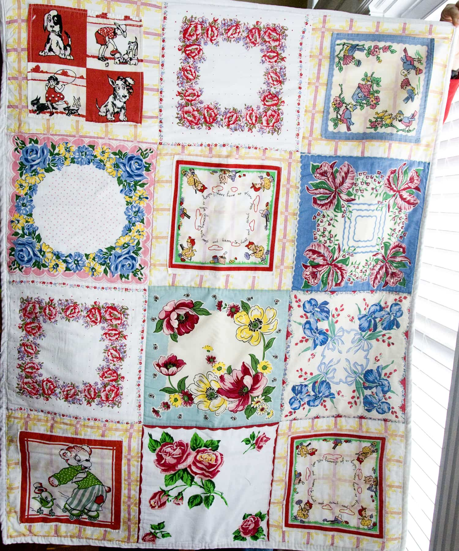Vintage Hankie Quilt The Polkadot Chair
