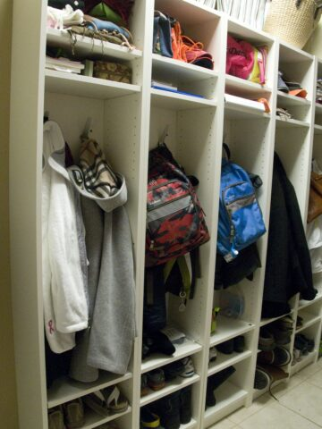 IKEA Hack: Mudroom Lockers from Bookcases.