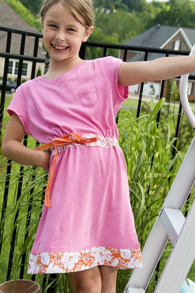 Summer Dress Made from Two T-shirts