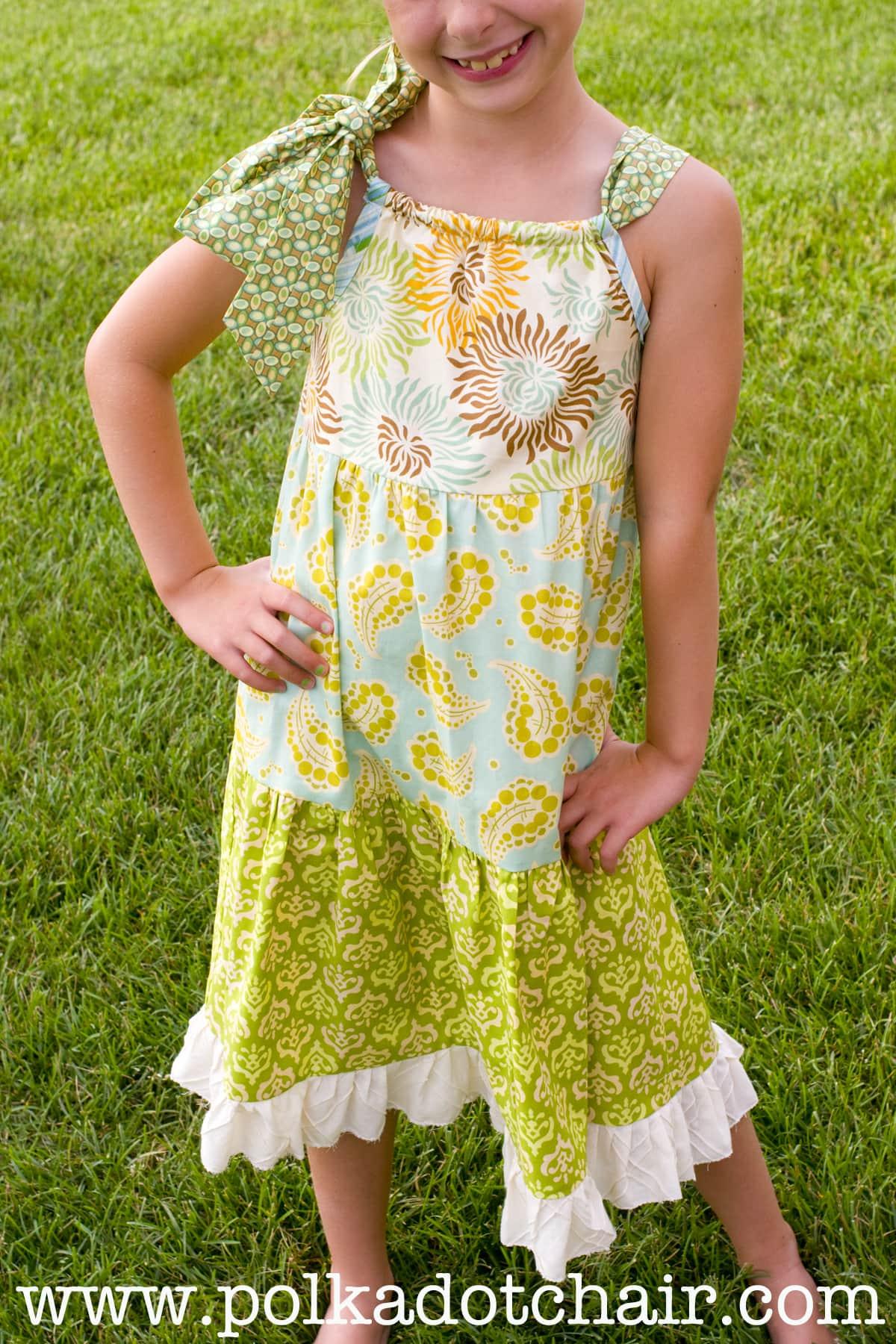 Tuesday Tutorial: Tiered Pillowcase Dress - The Polkadot Chair