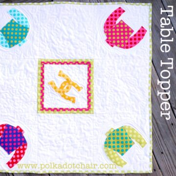 Tuesday Tutorial: Winning Colors Table Topper