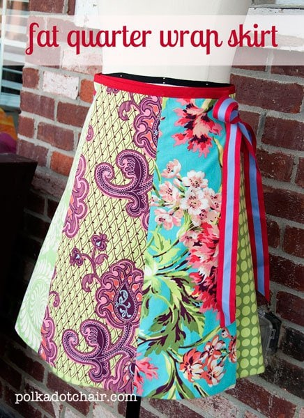 Wrap skirt made from Fat Quarters