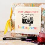 Instagram mini scrapbook tutorial & free printable