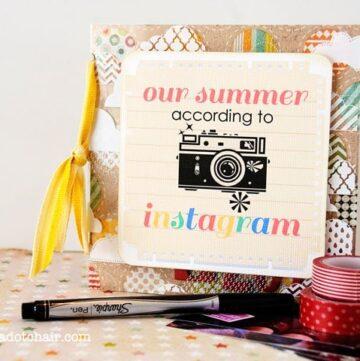 Instagram mini scrapbook tutorial & free printable
