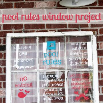 Pool Rules Window Project