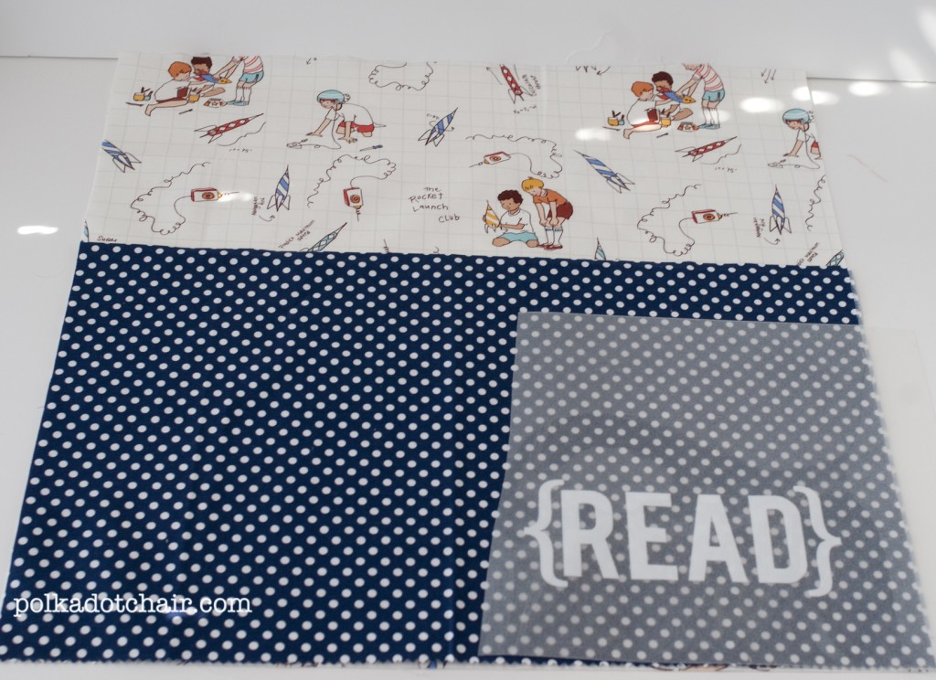 readingpillow3 1024x744 National Sewing Month 2012: Reading Pillow With Pocket Tutorial