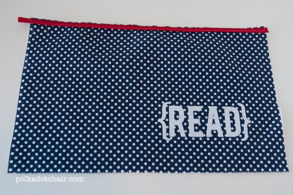 readingpillow4 1024x682 National Sewing Month 2012: Reading Pillow With Pocket Tutorial