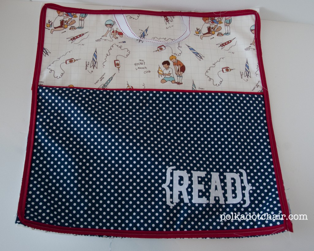 readingpillow8 1024x819 National Sewing Month 2012: Reading Pillow With Pocket Tutorial