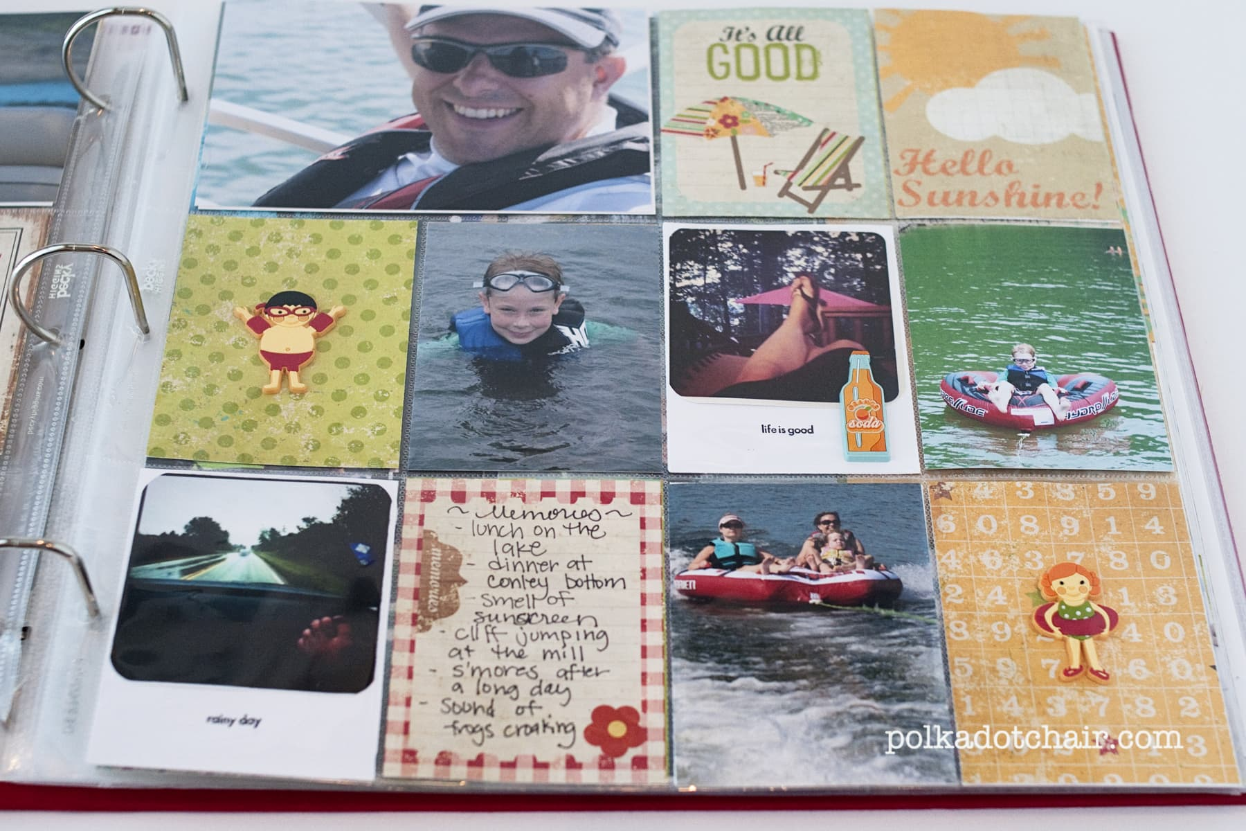 Summer vacation scrapbook ideas - Save