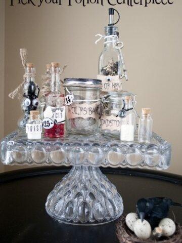 Pick Your Potion DIY Halloween Centerpiece