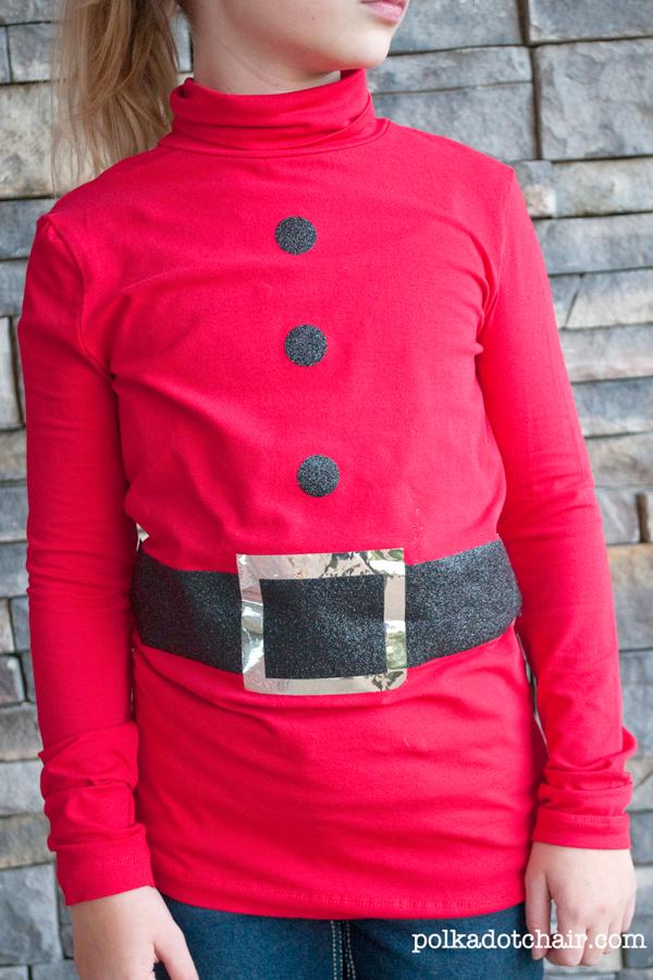DIY Santa Shirt Tutorial, cute Christmas shirt for kids!