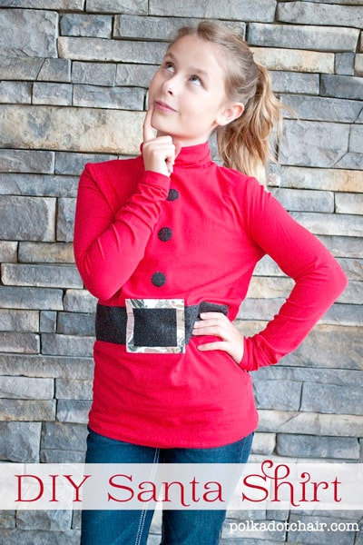 DIY Santa Shirt Tutorial,  cute Christmas shirt for kids!