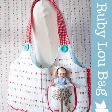 Ruby Lou Bag, a Purse Pattern for a Little Girl