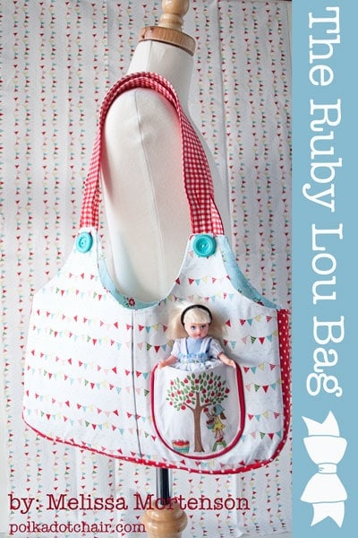 Ruby Lou Bag, Purse Pattern for Little Girl
