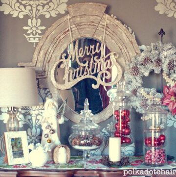"Vintage ""ish"" Christmas Display"