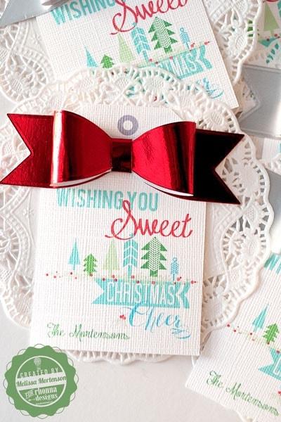 Christmas Gift Tags Ideas.Gift Tags For The Neighbor Treats The Polka Dot Chair