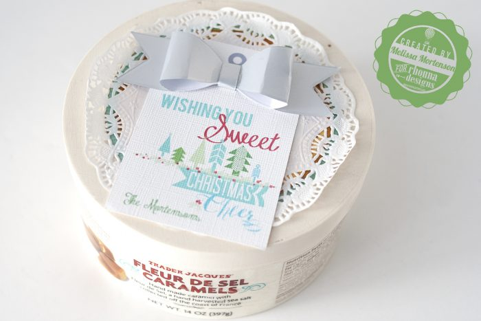 A quick and easy way to personalize a gift of candies for neighbors for Christmas