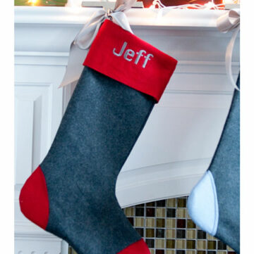 Wool Christmas Stocking Tutorial