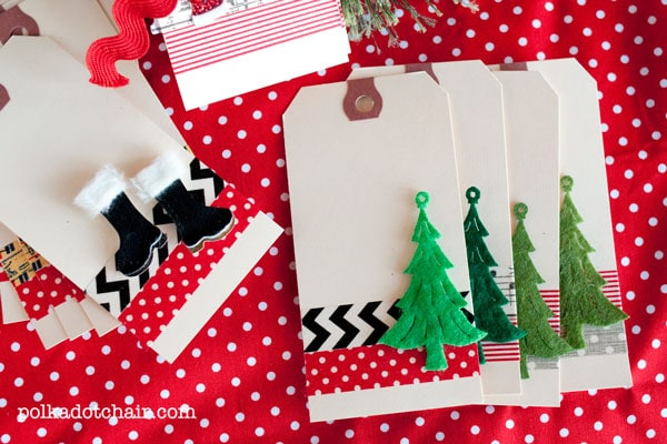 Washi Tape Christmas Projects Gift Tags The Polka Dot Chair