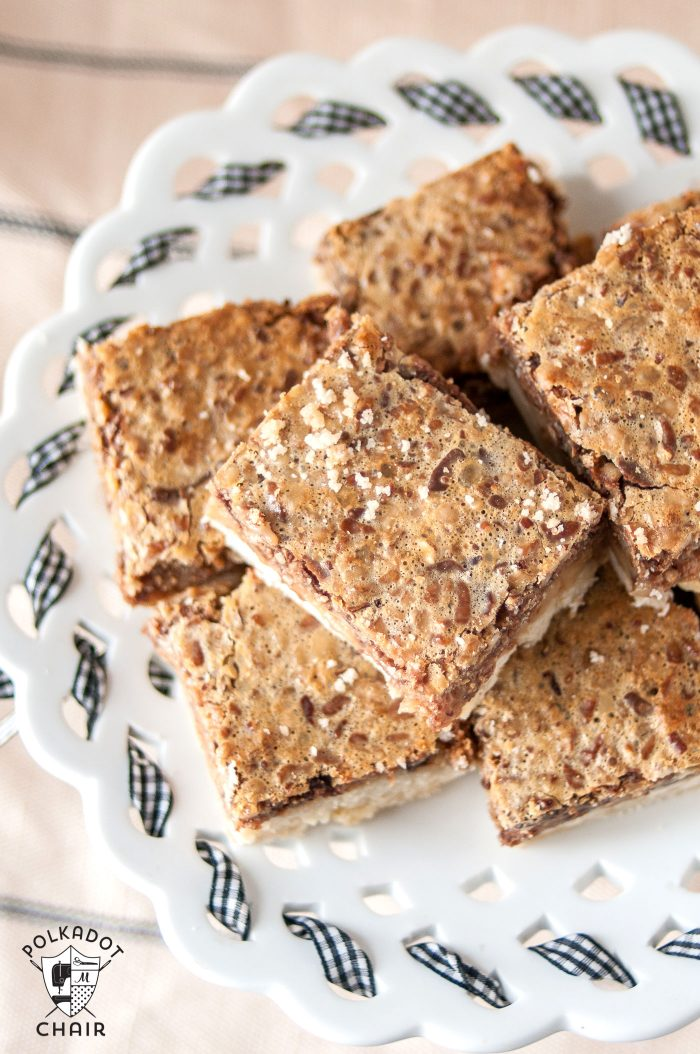 Recipe for Pecan Pie bars - looks delish!