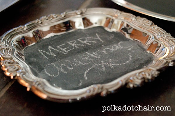 Antique Platter Chalkboard