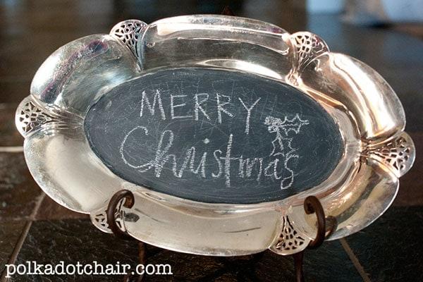 Silver Plate Chalkboard