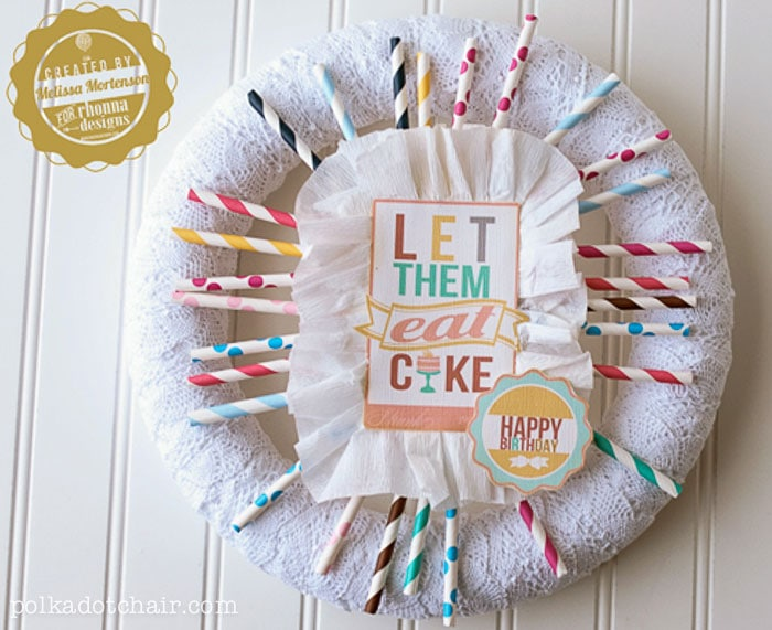 Birthday Wreath Idea