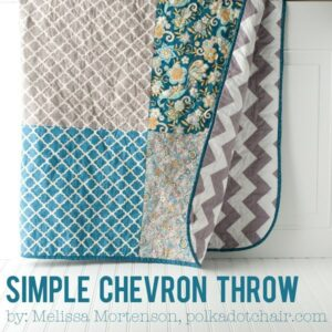 Simple Chevron Quilted Throw- a great quilt for a beginner