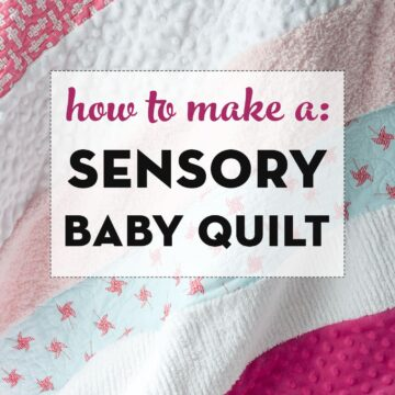 sensory strip baby quilt