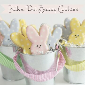 Polka Dot Bunny Cookies by Bee in our Bonnet