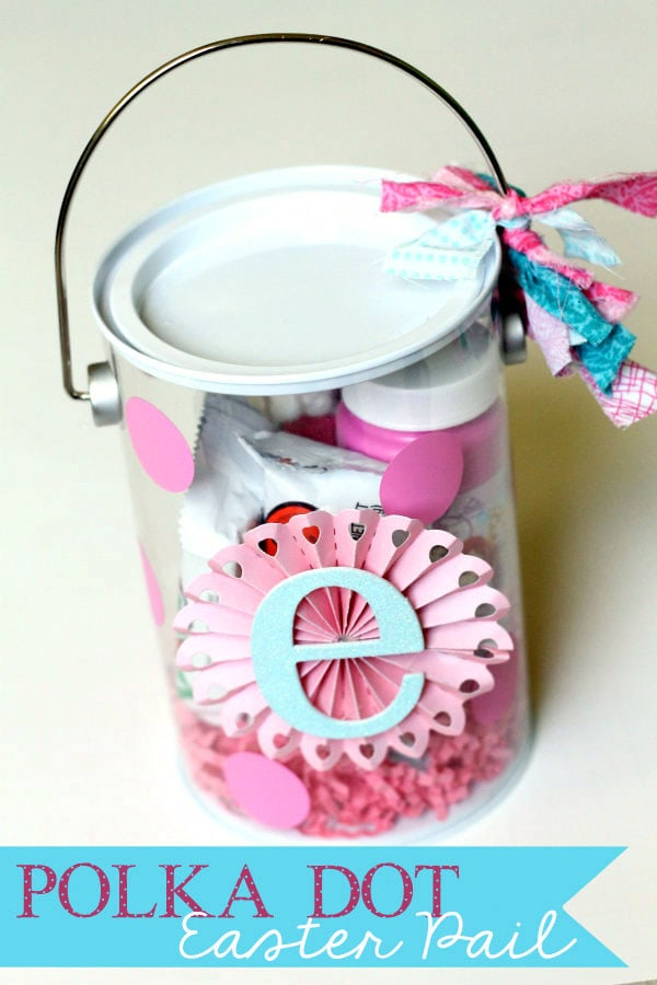 Cute and Easy Polka Dot Easte Pails with Initial { lilluna.com }