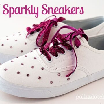 DIY Sparkle Sneakers