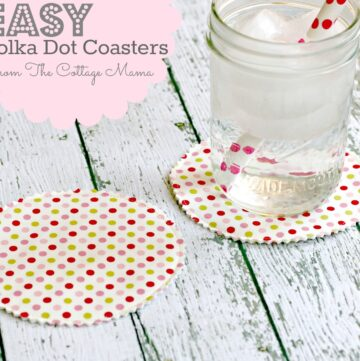 Polka Dot Coasters by the Cottage Mama