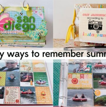 Tips for Summer Memory Keeping