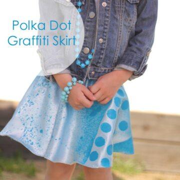 Polka Dot Graffiti Skirt by Girl. Inspired.