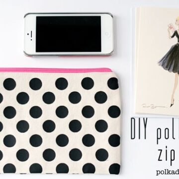 DIY Polka Dot Zip Pouch on the Polka Dot Chair