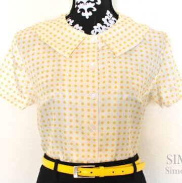 Vintage Polka Dot Blouse by Simple Simon & Co.