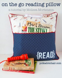 On the Go Reading Pillow Tutorial