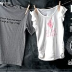 DIY Happy Birthday t-shirts with Rhonna Designs