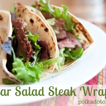 Caesar Salad Steak Wraps Recipe