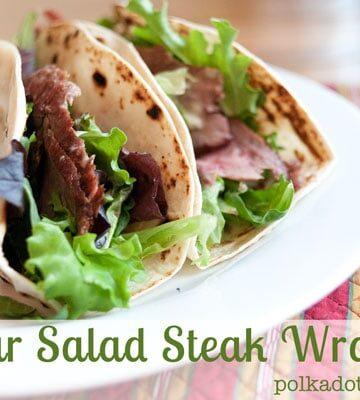Caesar Salad Steak Wraps