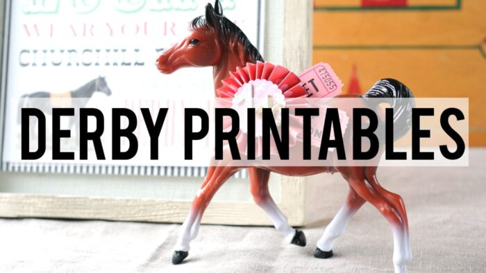 photo relating to Printable List of Kentucky Derby Horses called Kentucky Derby Printables The Polka Dot Chair