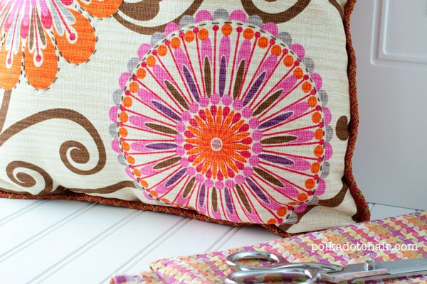 how to add embroidery detail to home decor fabric
