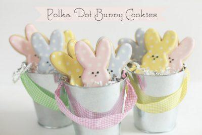 Polka Dot Easter Bunny Cookies