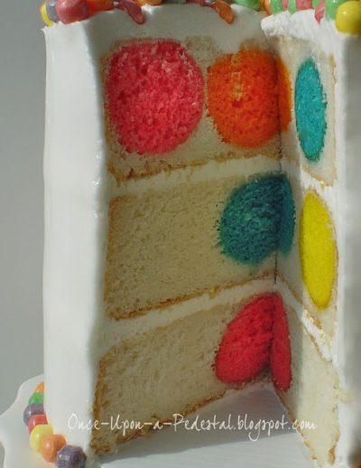 DIY Polka Dot Birthday Cake